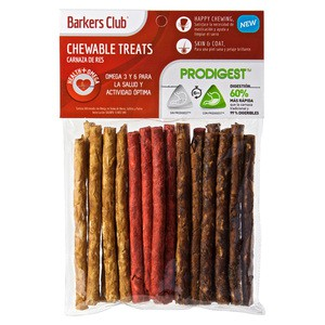 Barkers Club Palitos de Carnaza con PRODIGEST Health+Omega 25 Piezas