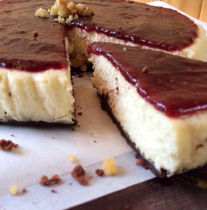 Cheesecake de chocolate blanco chico