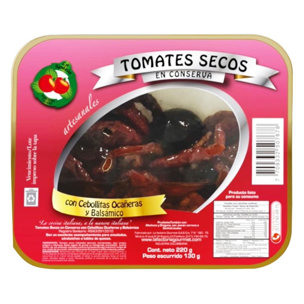 Tomates secos La Spezia cebollitas balsámico x 220g