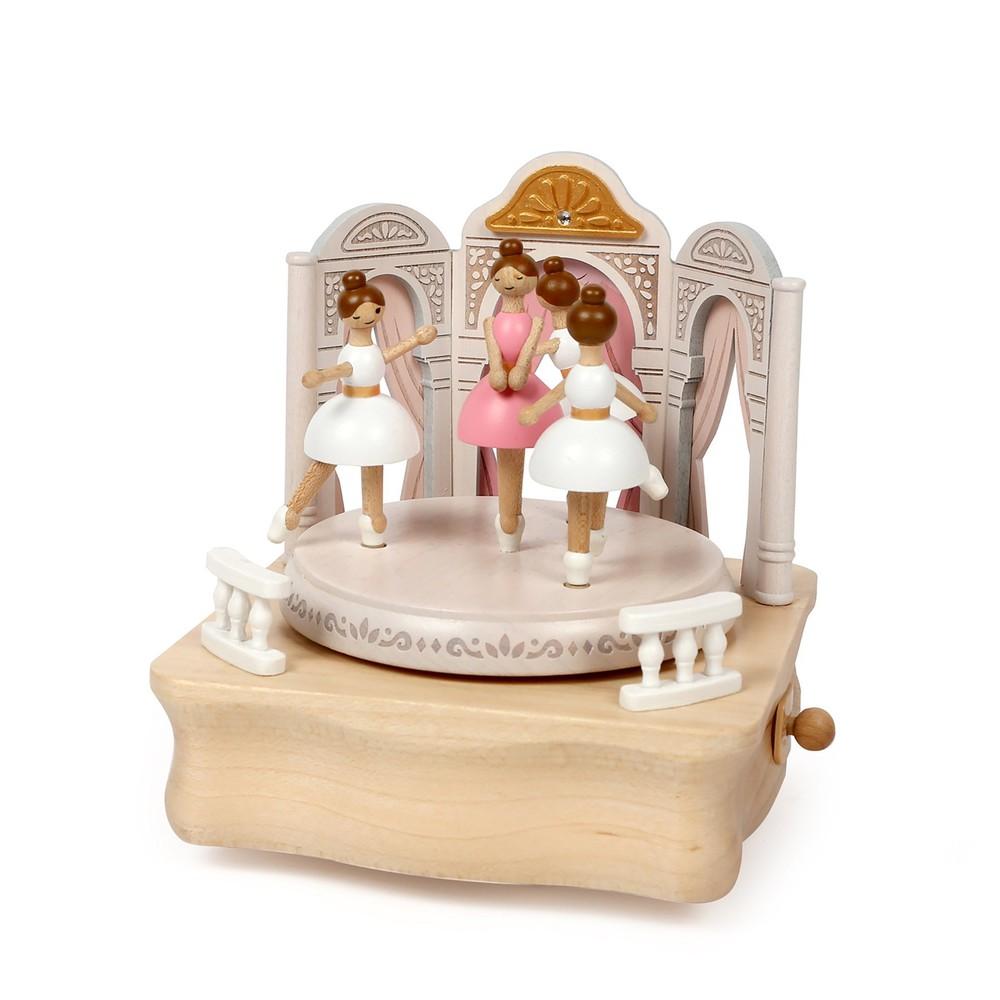 Caja musical madera regalo ballet 15,5x16x16