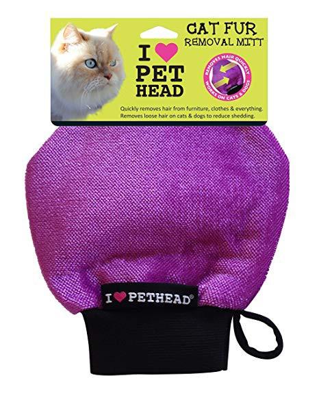 Cat fur removal mitt