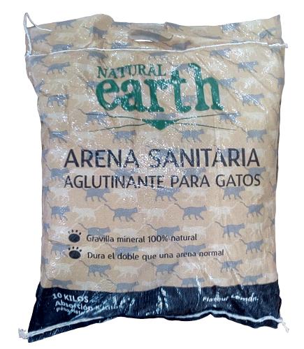 Arena sanitaria aglutinante - gatos Saco 10 Kg