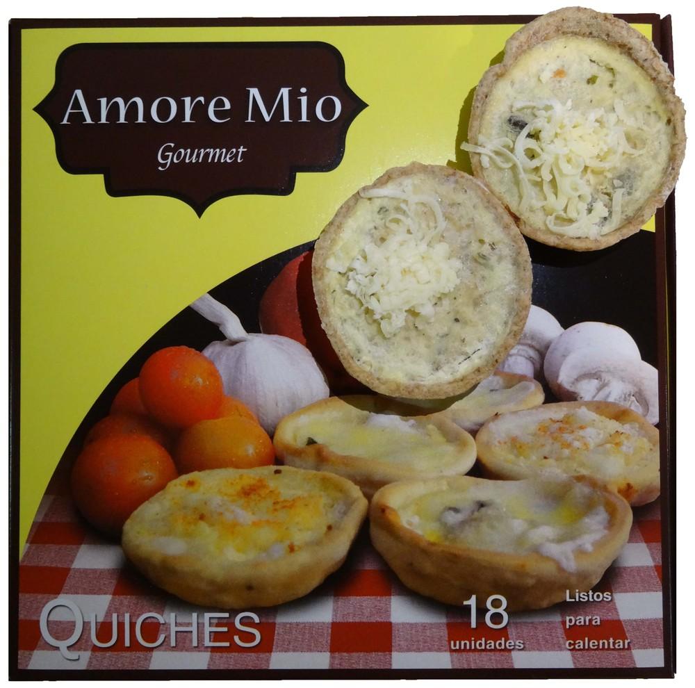 Mini quiches integral mix champiñón y zapallo italiano Envase 18 unidades