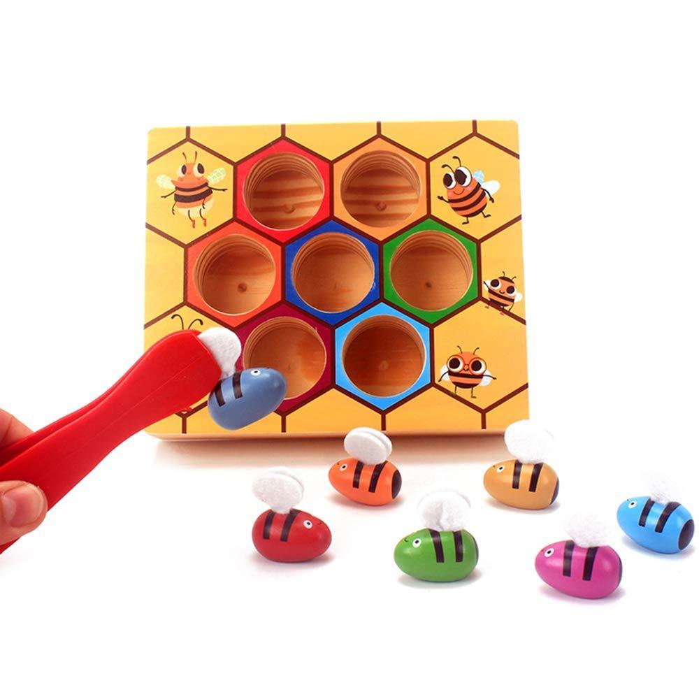 Abeja pinzas aprende los colores. 7 abejas + pinza