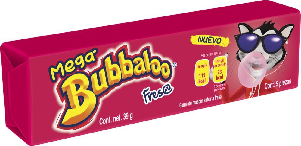 Goma de mascar Mega sabor fresa