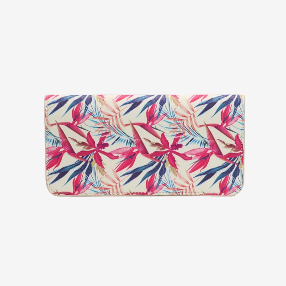 Porta pasaporte hawaii rosado