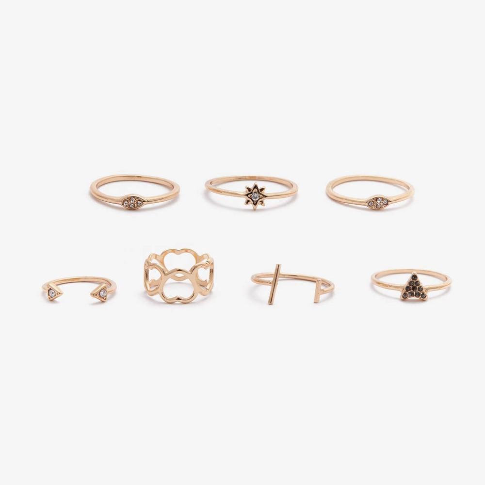 Pack de anillos isidora dorado
