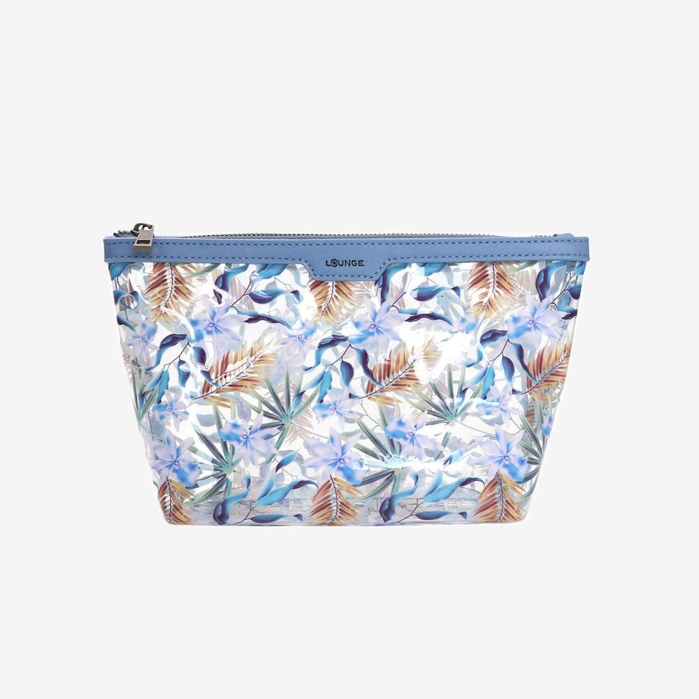 Estuche multiuso flor azul