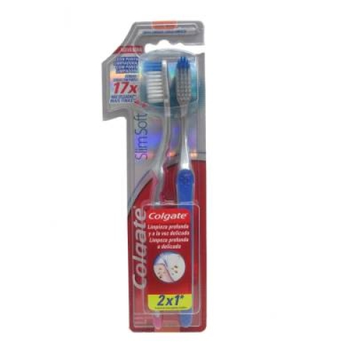 Cepillo dental slim soft 2 piezas