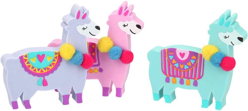 Goma de borrar alpaca colores 4 x 4 cm.