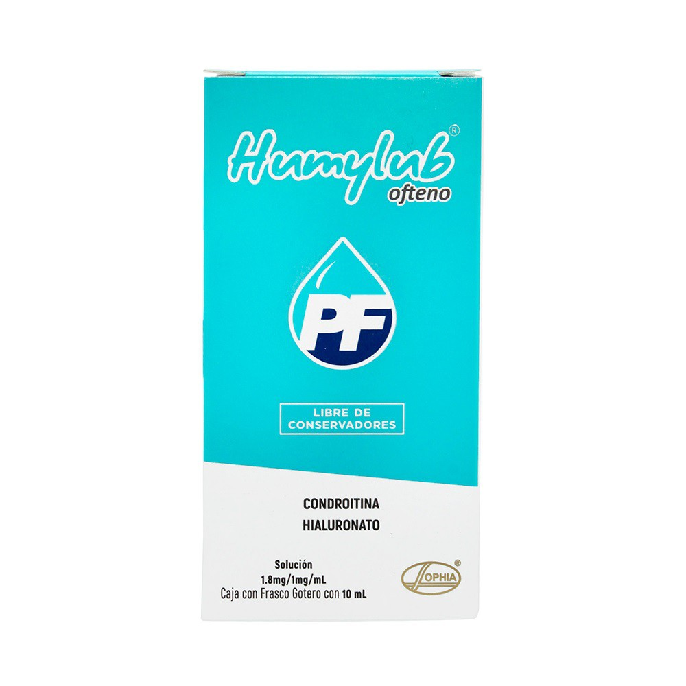 Humylub PF ofteno solución 1.8mg/ 1mg/ mL