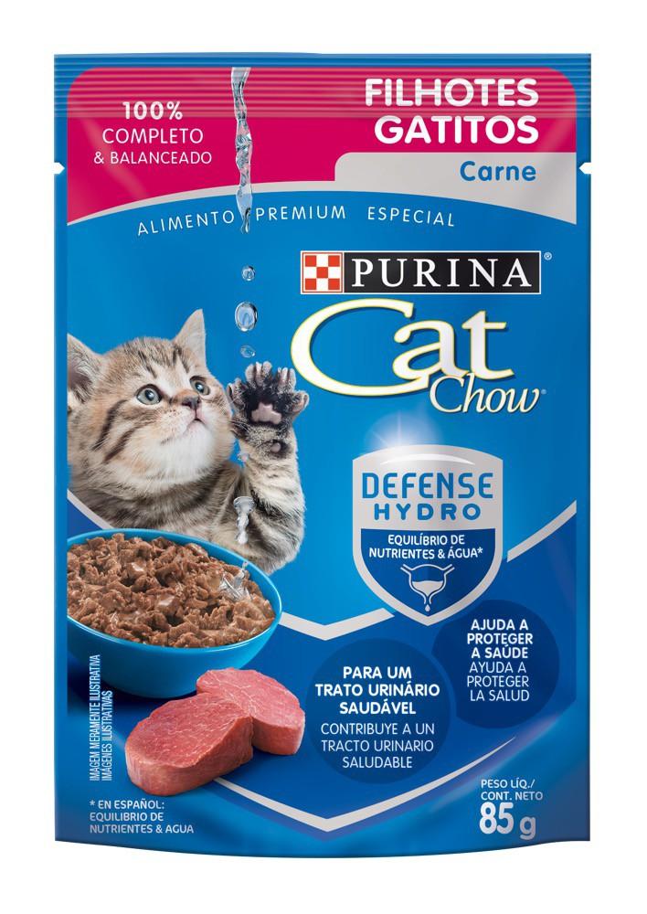 Alimento húmedo gatitos sabor carne