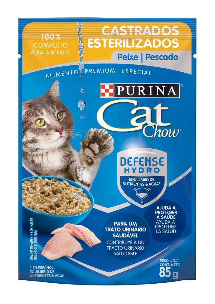 Alimento húmedo gatos sabor pescado