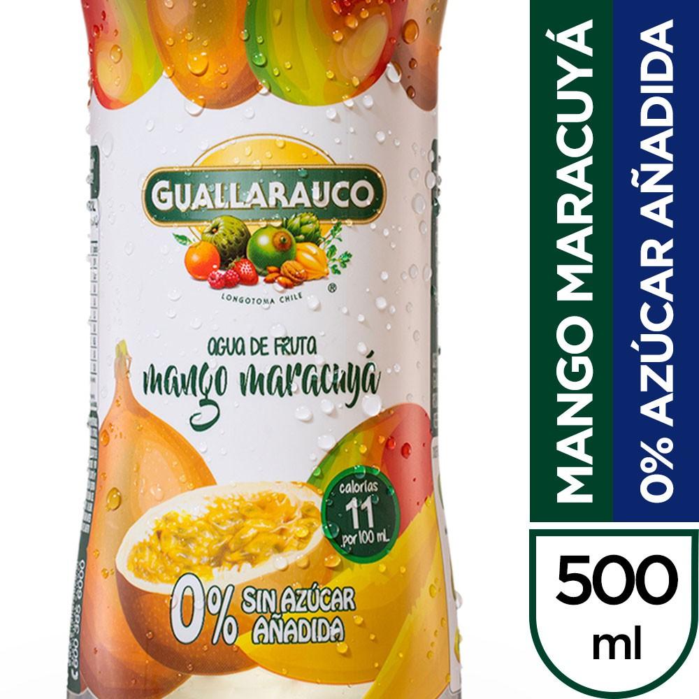 Agua saborizada mango maracuyá 0% azúcar añadida 500 ml