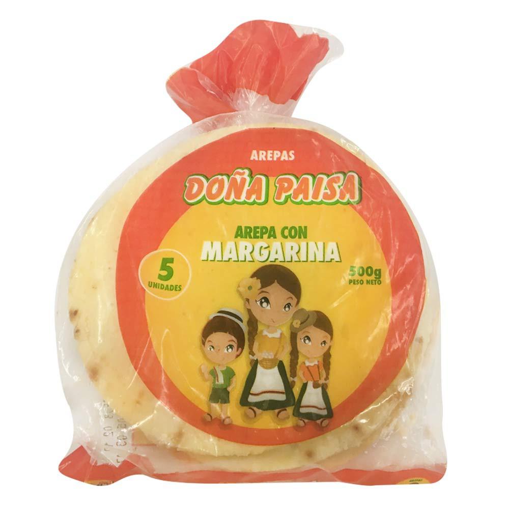 Arepa con margarina