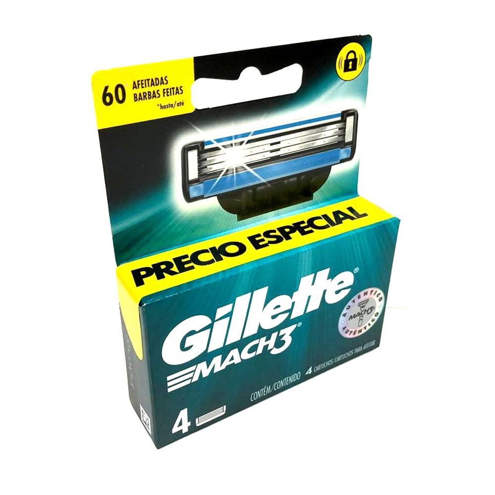 Cartuchos Gillette Mach3 Afeitar