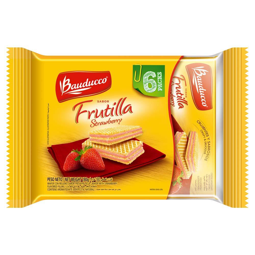 Galleta Bauducco Wafer Frutilla