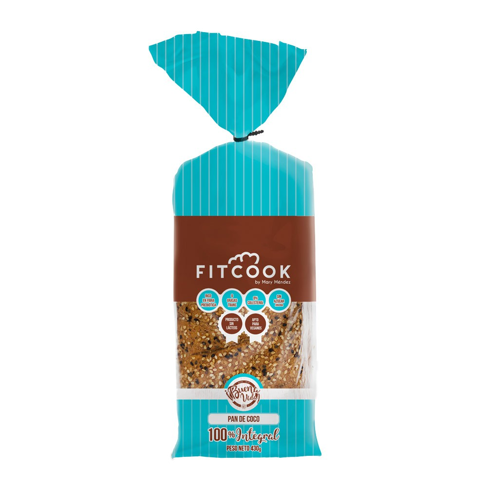 Pan Fitcook By Mary Mendez Intgral Coco Sin Lacteo