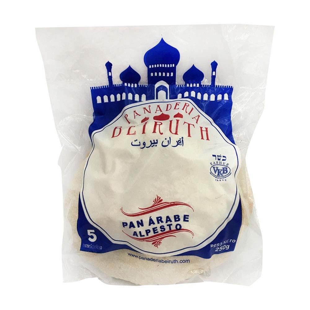 Pan árabe al pesto