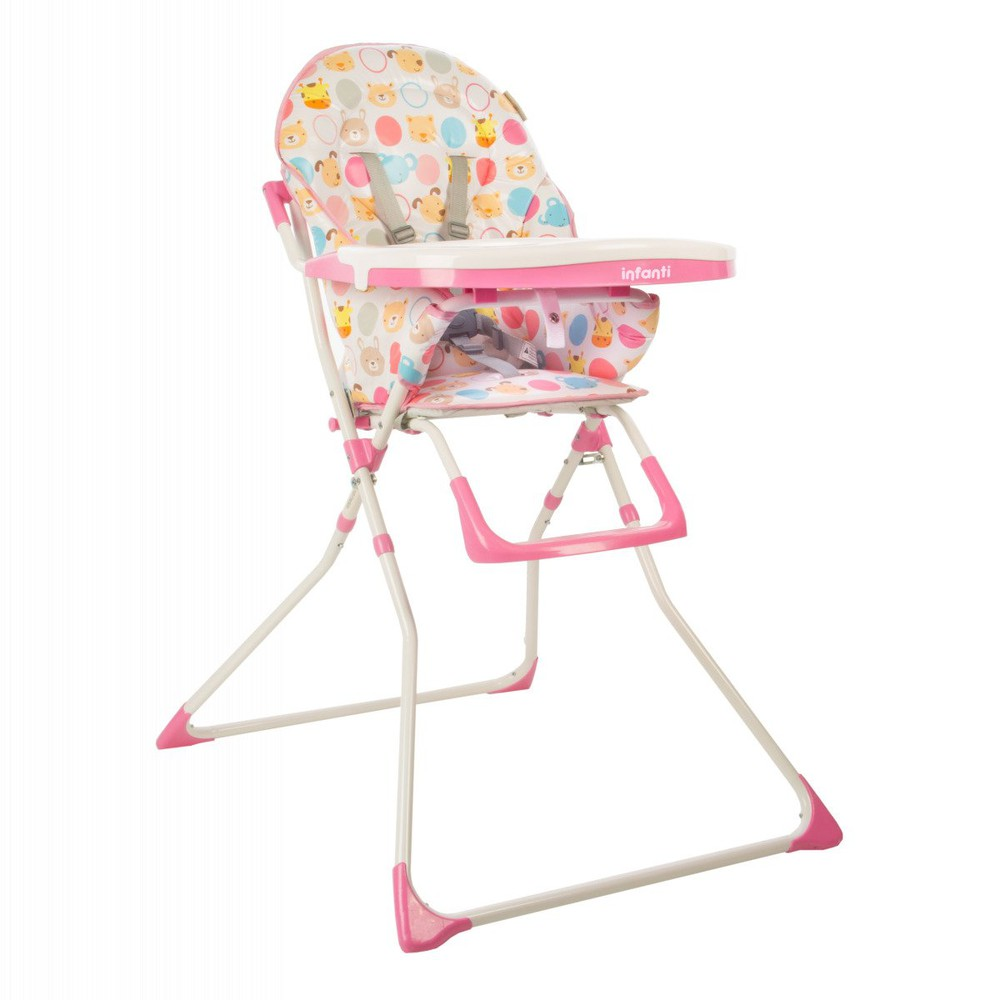 Silla comer candy zoo pink