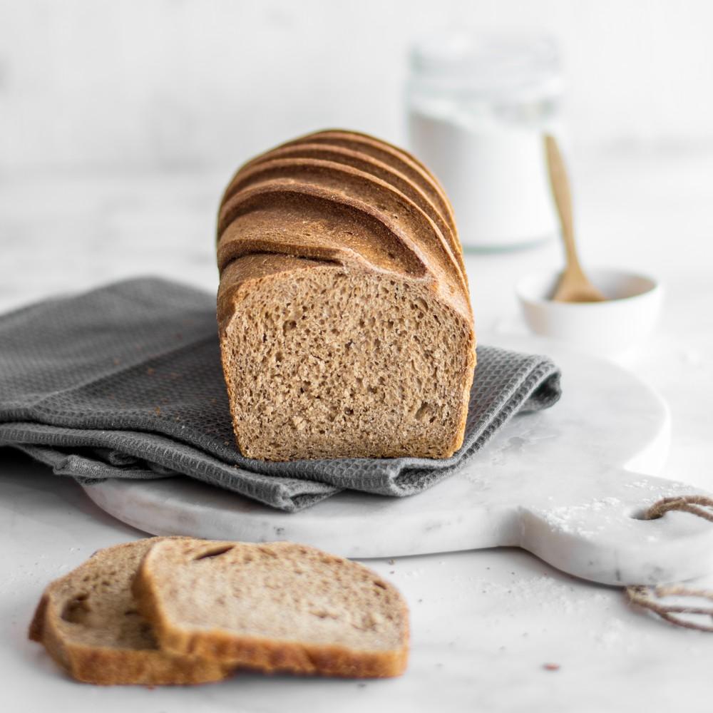 Pan molde integral masa madre
