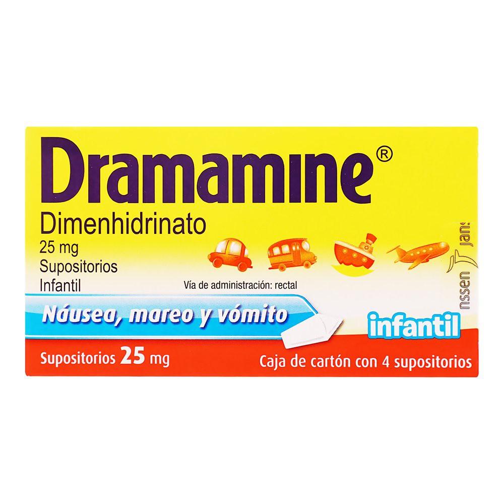 Dimenhidrinato infantil supositorio 25 mg