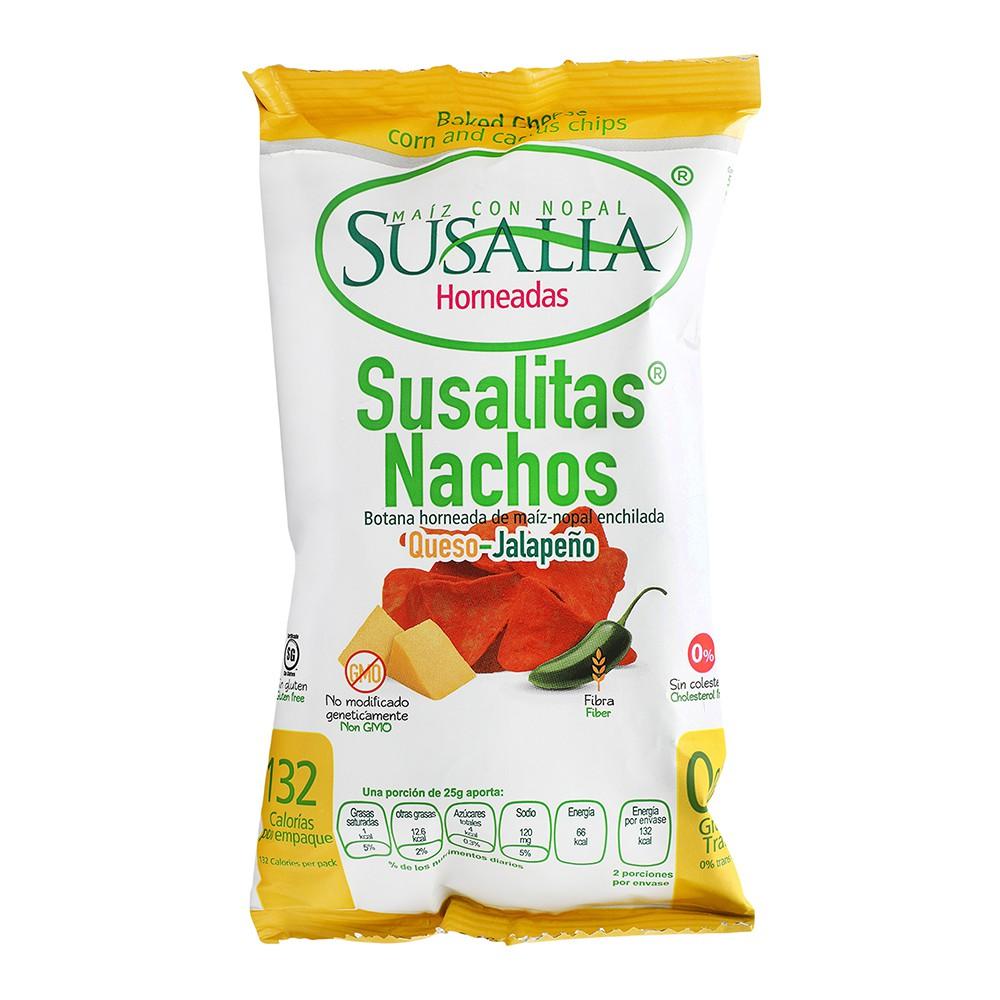 Susalitas nachos sabor queso y jalapeño