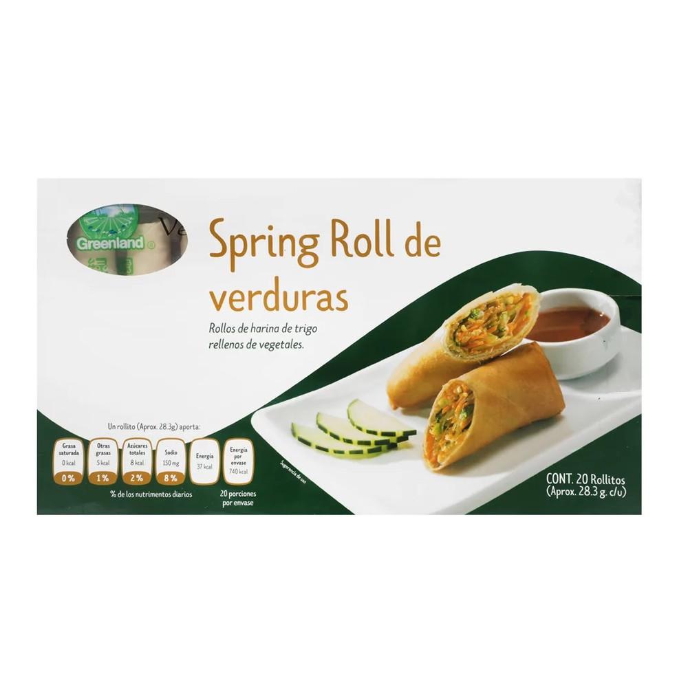 Rollo primavera de vegetales Empaque 20 piezas