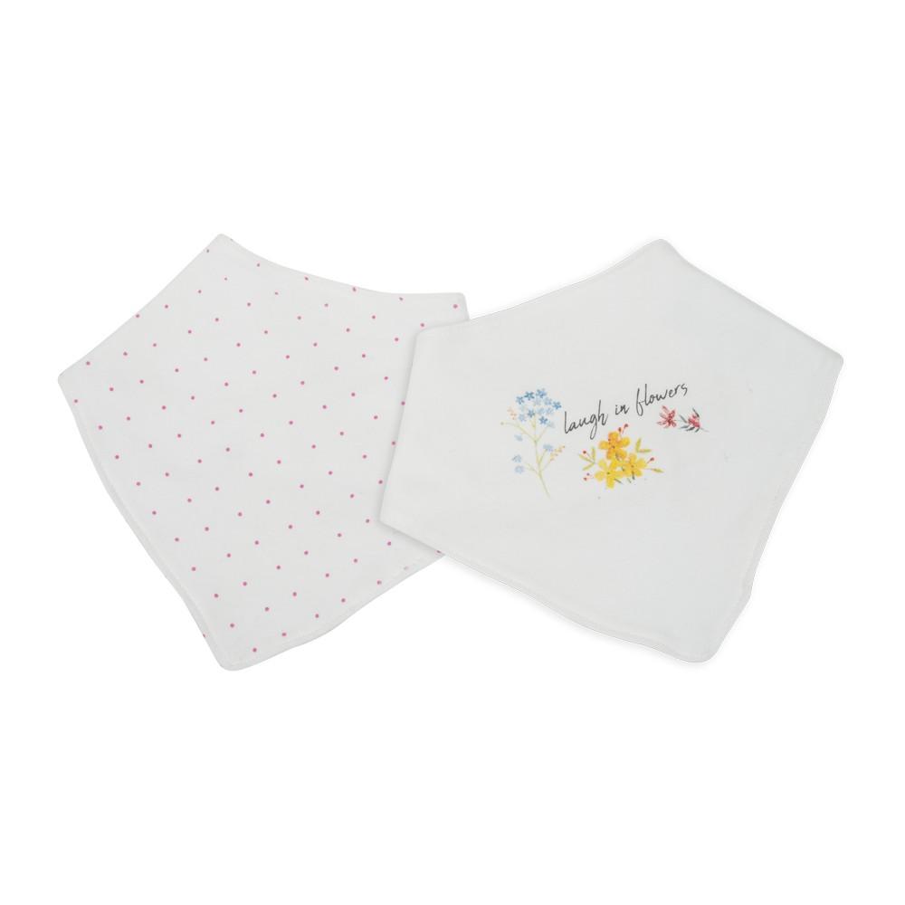 Babero estampado floral blanco invierno