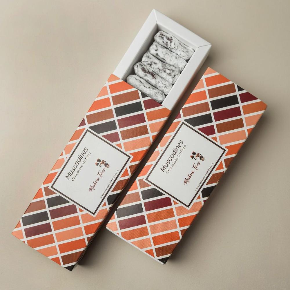 Caja chocolates trufas muscadine (150 gr- 24/u)
