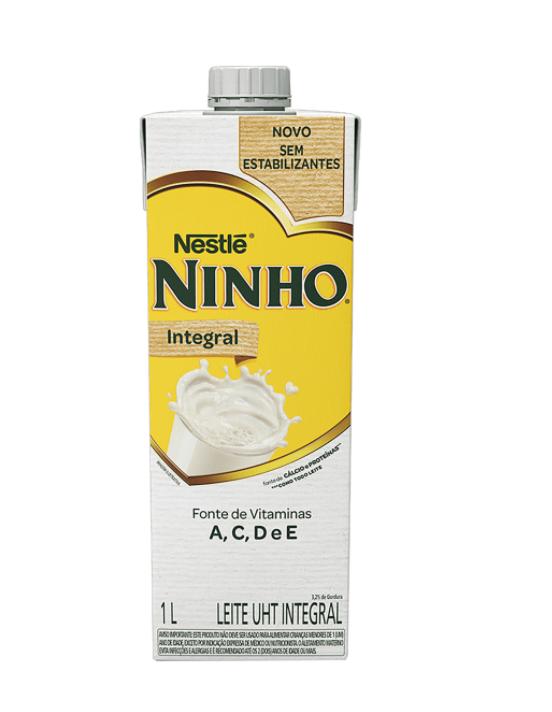 Leite integral UHT sem estabilizantes Ninho