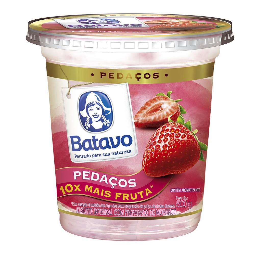 Iogurte integral pedaços morango