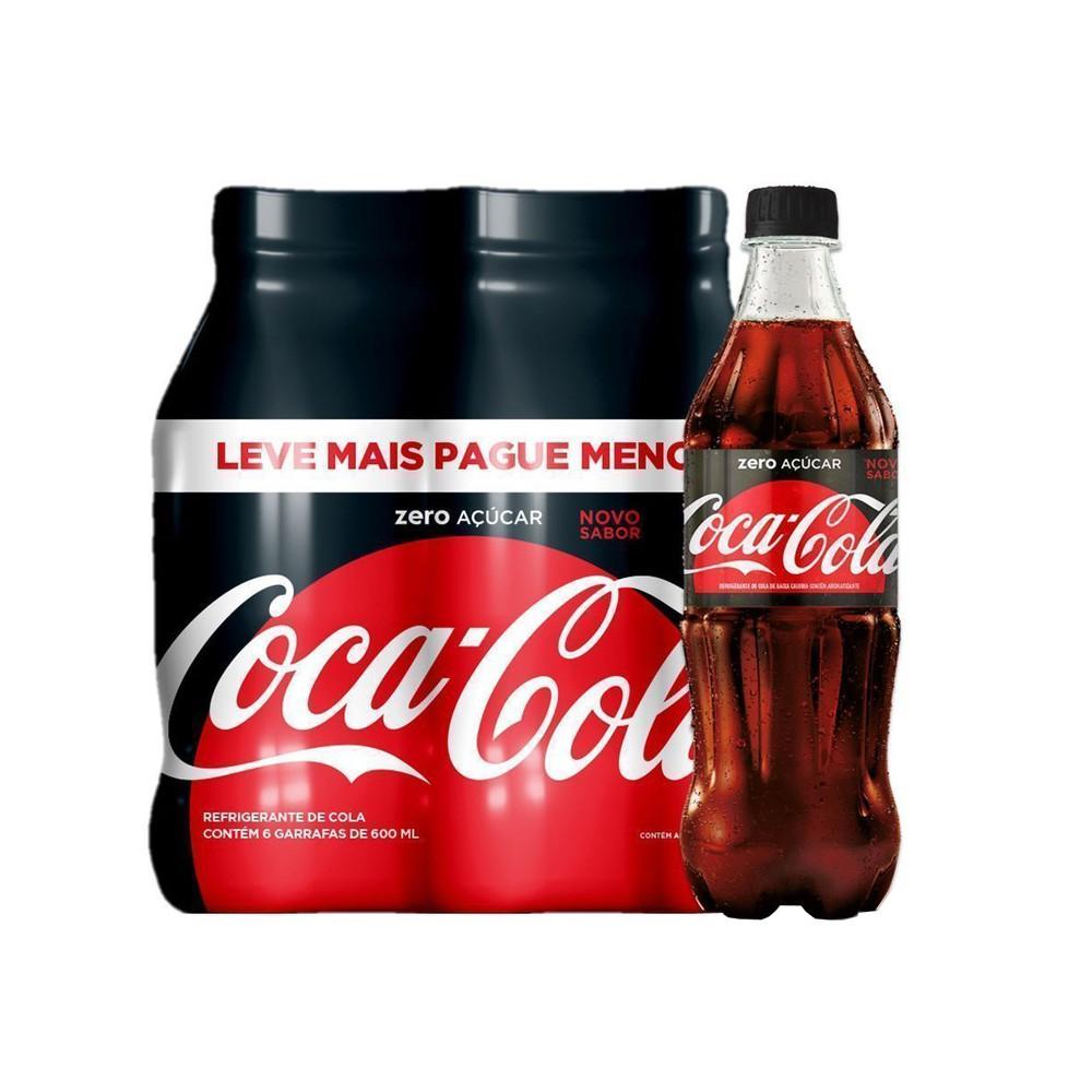 Coca-Cola Zero 600ml Pack com 6 unidades