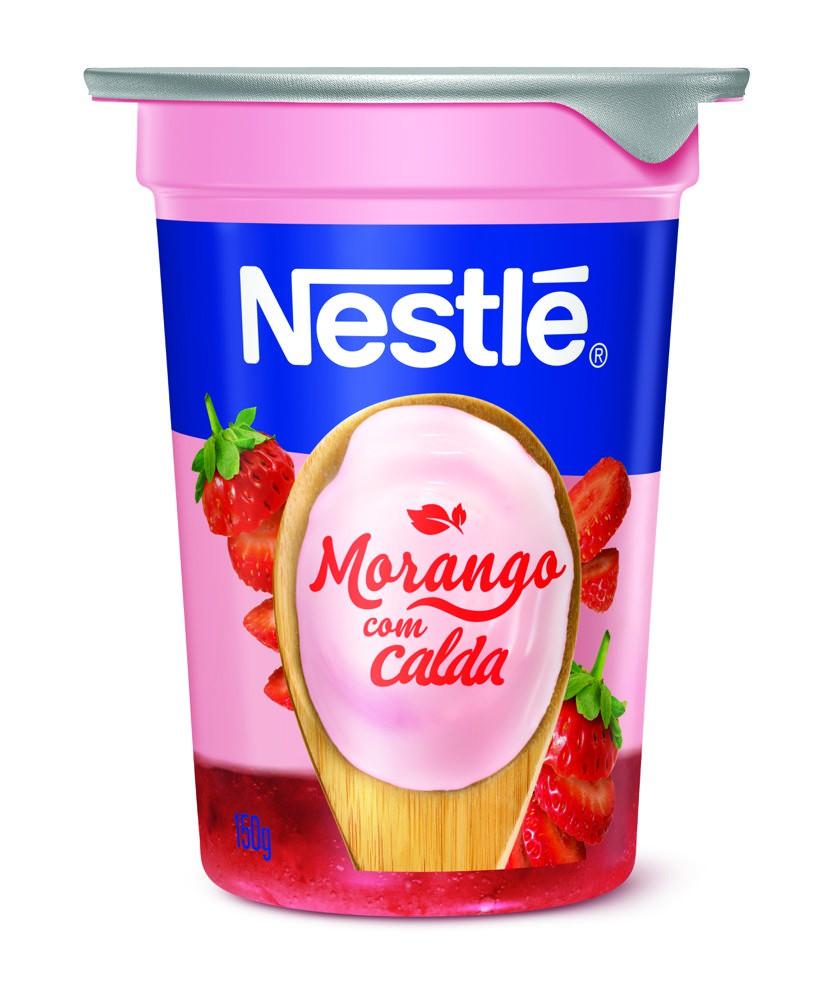 Iogurte bicamada morango
