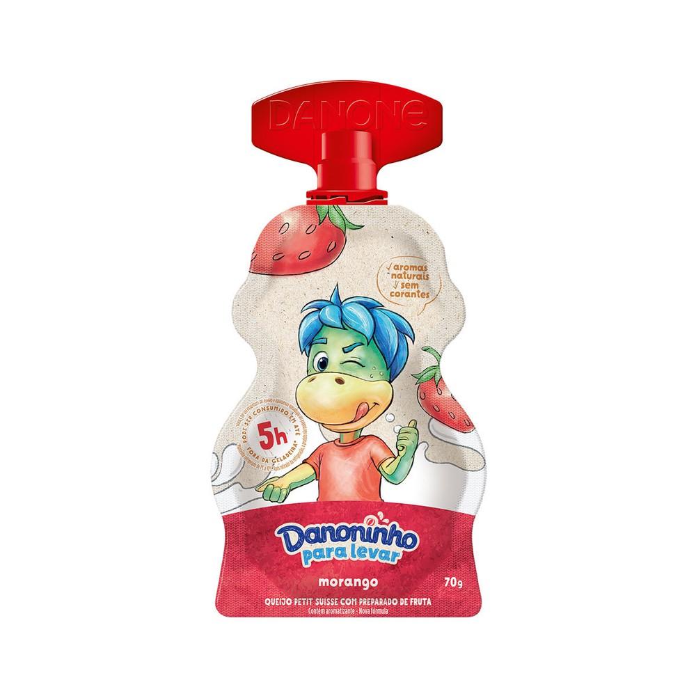 Iogurte infantil para levar morango Danoninho