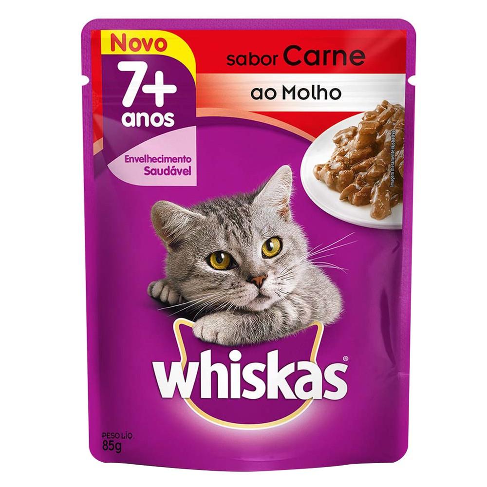 Ração úmida para gato carne com molho 85g