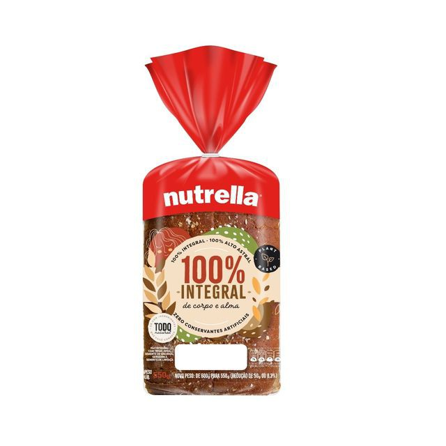 Pão de forma 100% integral