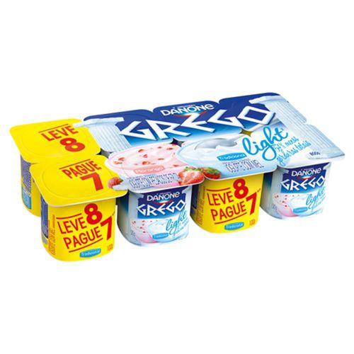 Iogurte grego light morango