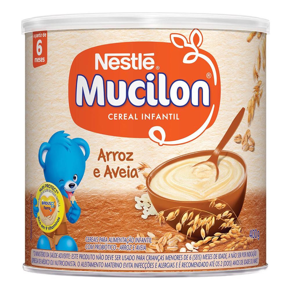 Cereal infantil arroz e aveia Mucilon