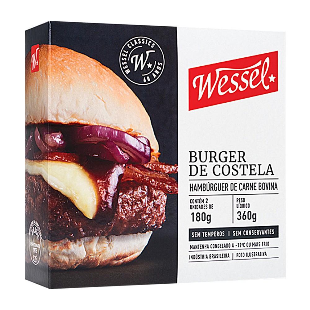 Hambúrguer de costela bovina congelado