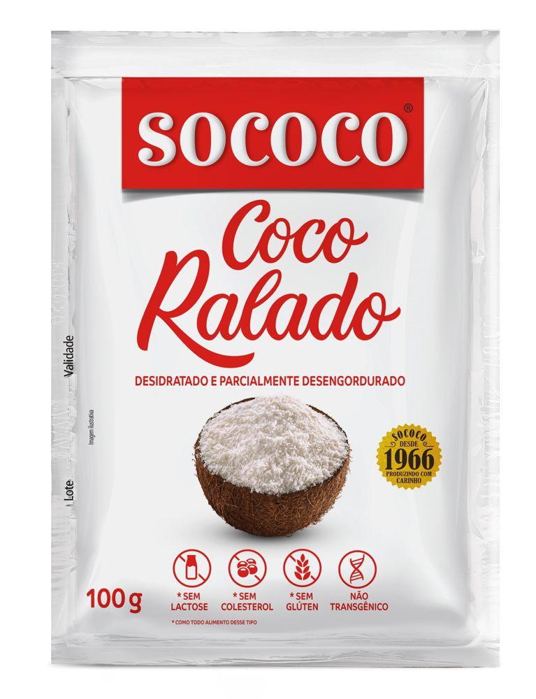 Coco ralado desidratado