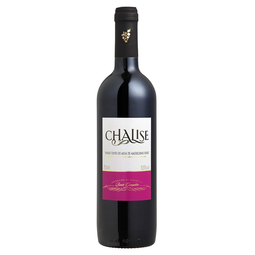 Vinho brasileiro tinto suave Chalise