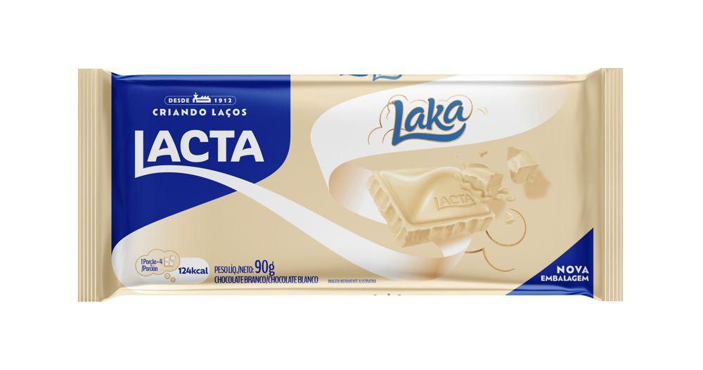 Chocolate branco ao leite Laka