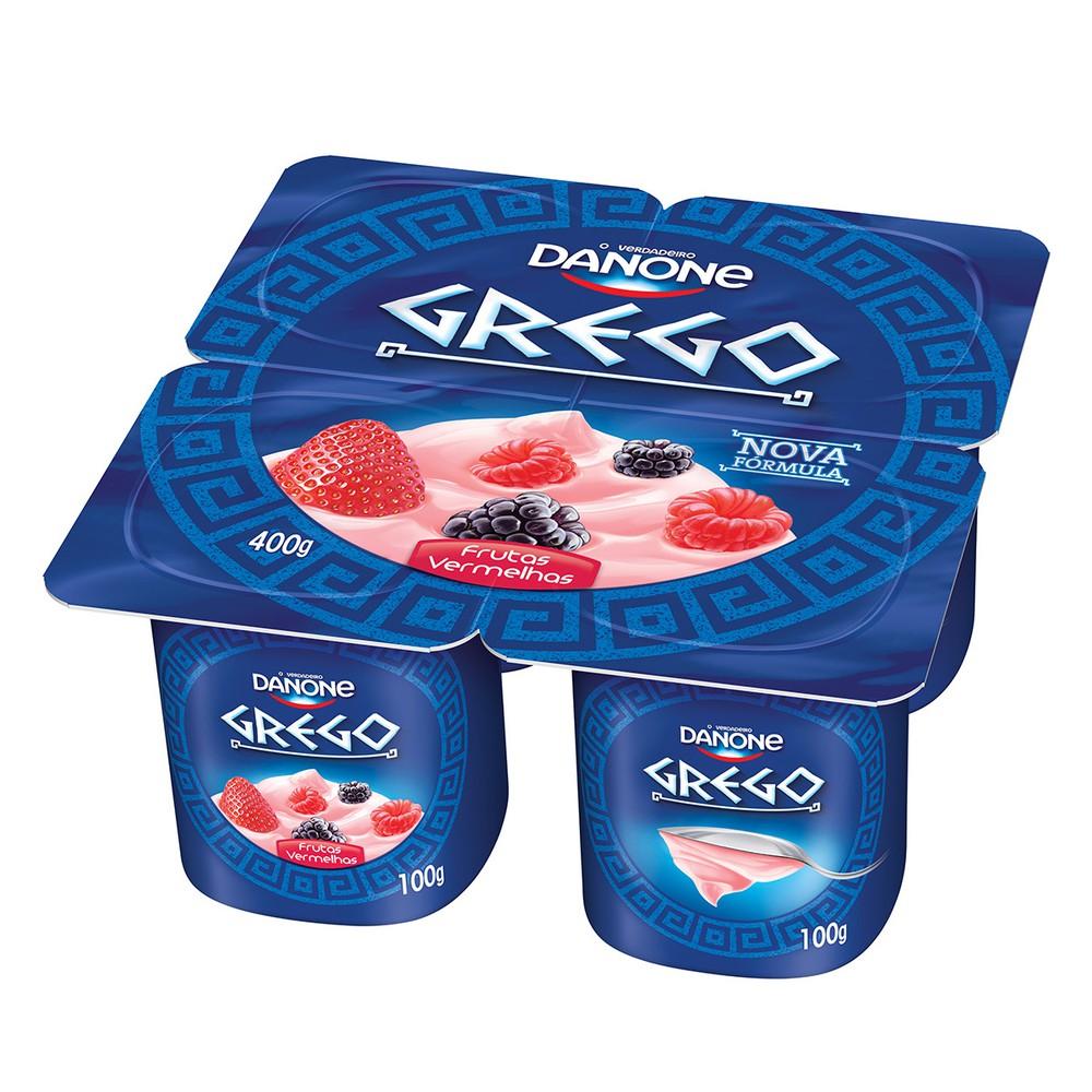 Iogurte grego de frutas vermelhas