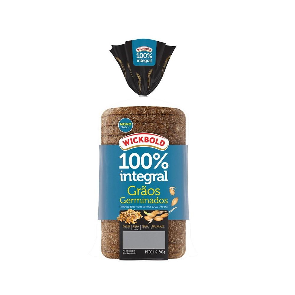 Pão de forma grão germinados 100% integral
