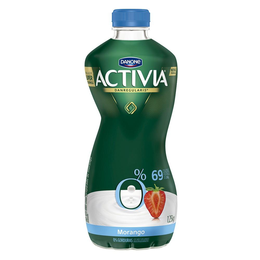 Iogurte desnatado morango