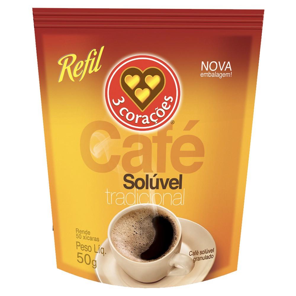 Café solúvel tradicional refil