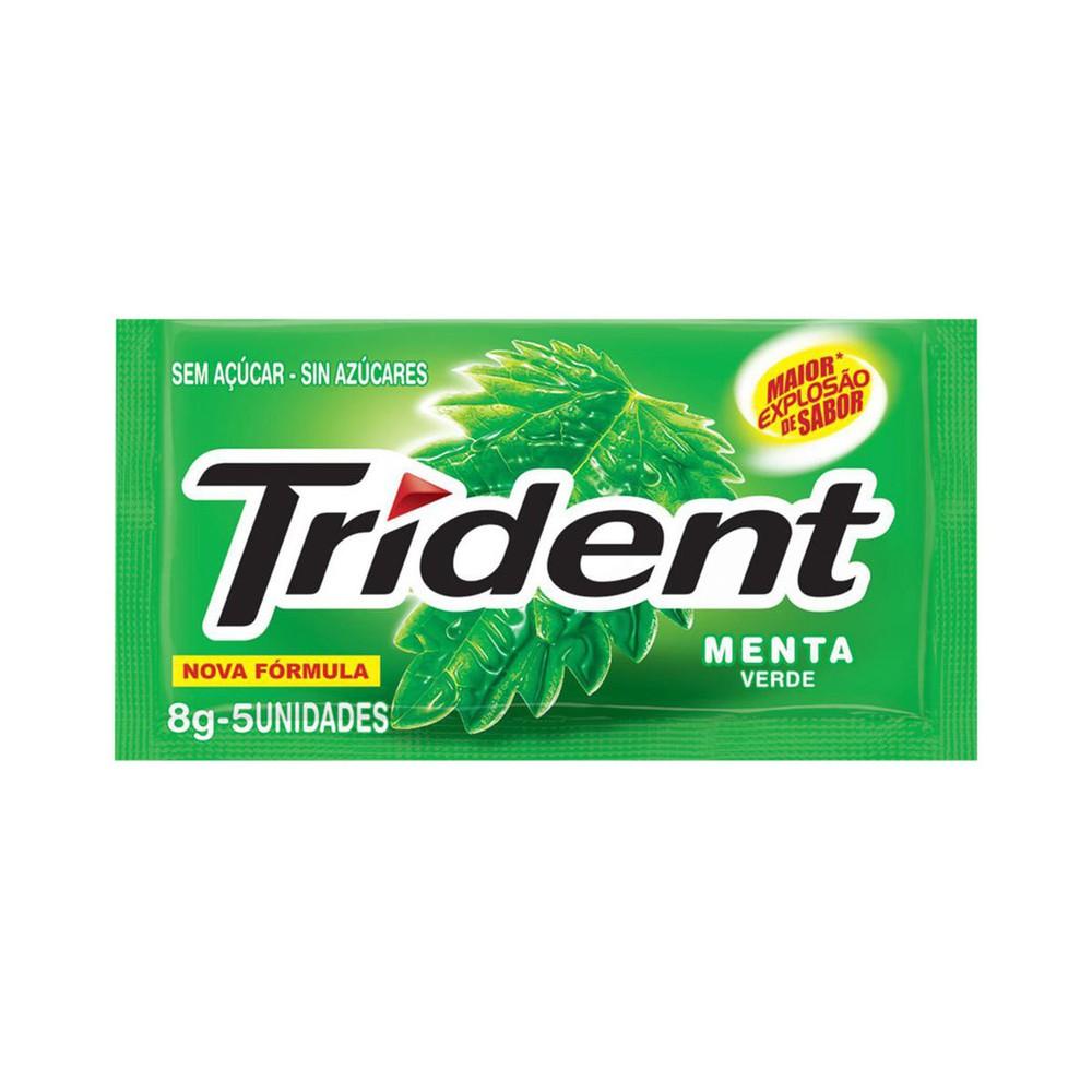 Goma de mascar sem açúcar sabor menta verde