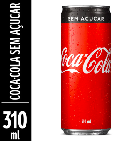 Refrigerante de cola zero açúcar