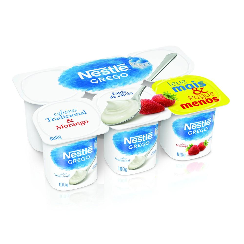 Iogurte grego tradicional + morango